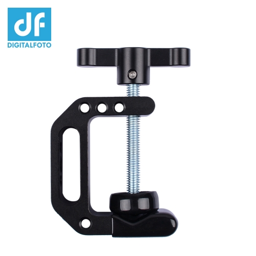 "C-Clamp 3-42mm jaws super clamp with 1/4""-20 for attached monitor,smartphone,LED Light,camera video etc"