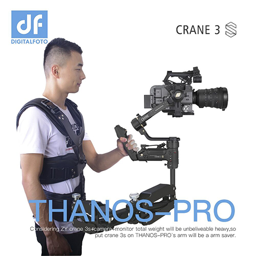 THANOS-PRO Universal Vest Arm with Adapter for ZY Crane3S DJI RS2 etc