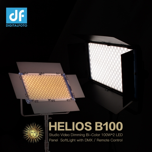 HELIOS B100 Studio Video Dimming Bi-Color 100W*2 LED Panel SoftLight with DMX
