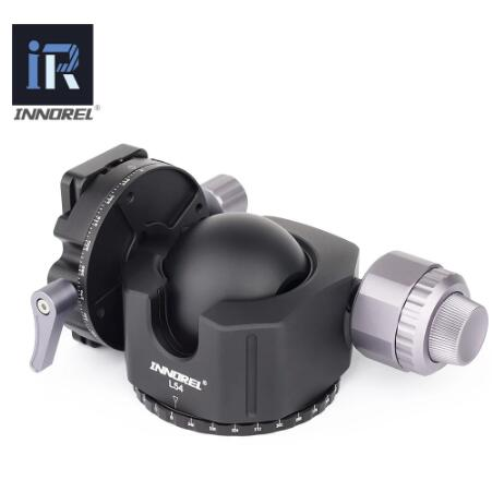 54/44mm super large Hollow sphere tripod head Double U Notch ultra-low profile Damping setting