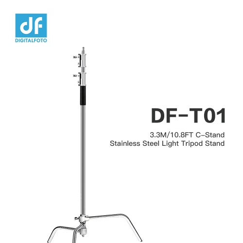 3.3M/10.8FT C-Stand Stainless Steel Light Tripod Stand